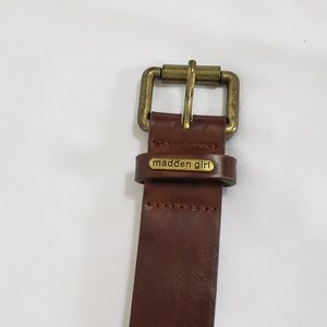 Maden girl brown and gold belt